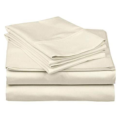 "Camper Sheets Custom Rv Sheets Best Rv Sheets Camper Sheeting Bed Sets for Bunk Beds Camper Bedding Rv Bedding Sheets Bunk Bed Odd Size Sheets 10-15"" Deep (4 PCs)-RV King: 72"" x 80"" -Ivory Solid"