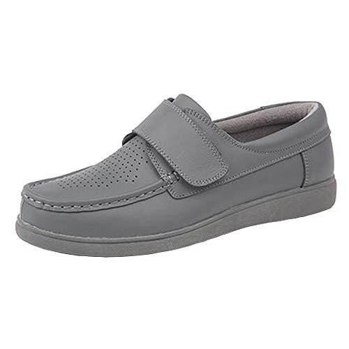 Dek - Zapatos de Piel sin Cordones Bowling para Chico Hombre (45 EU) (Gris)