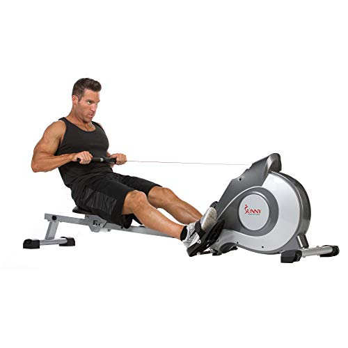 Sunny Health & Fitness Magnetic Rowing Machine Rower with...