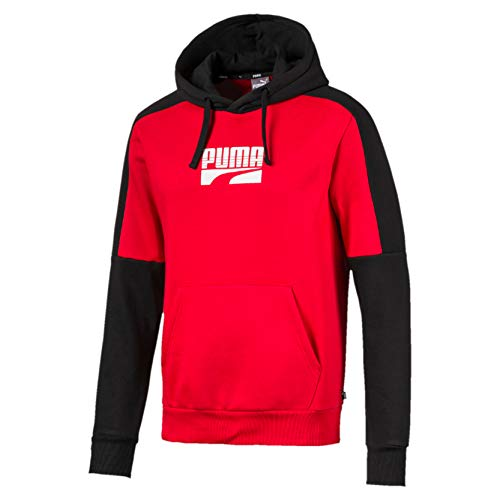 PUMA Rebel Block Hoody FL Pull Homme, High Risk Red, FR : L (Taille Fabricant : L)