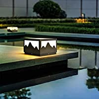 WQERLC 屋外芝生ランプ、ソーラーコラムランプ、防水中庭ランプ、ヴィラゲートコラムランプ、ガーデンウォールランプ、芝生ランプ,B,40