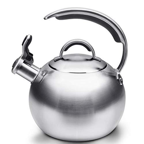 Bouilloire 304 Théière en Acier Inoxydable Cuisinière À Gaz Cuisinière À Induction Cuisinière Usage Général Maison 3L
