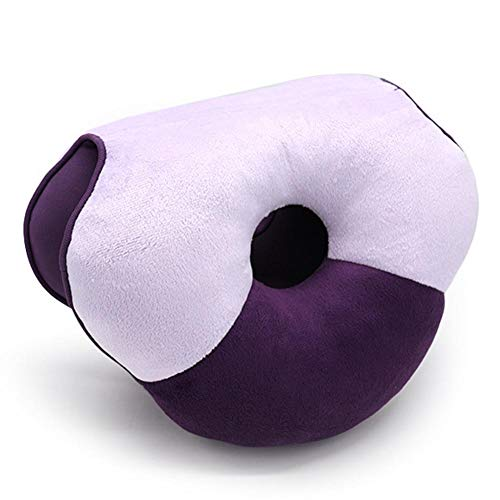 etateta 12'' Soft Dual Comfortable Cushion,Beauty Shaping Lift Hips Up Seat Cushion Chair Pad for Car,Office,Travel - Perfect for Pressure Relief,Back Pain,Sciatica,Disc Best Service