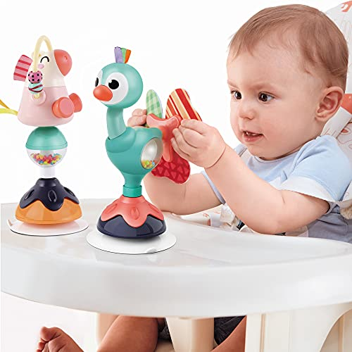 iPlay, iLearn Baby Rattles Set, Infant High Chair Toys W/ Suction Cup, Grab N Spin, Interactive Development Baby Tray Toy, Newborn Gifts for 6, 9, 12, 18, 24 Months, 1 2 Year Olds, Boys Girls Kids