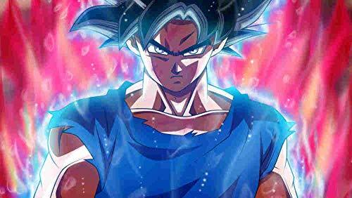 lcyab Adultos Y Niños Rompecabezas 1000 Piezas-Póster Anime Goku Black Hair-Divertidos Juegos Y Juguetes Educativos, Rompecabezas De Decoración