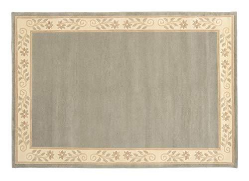 RHONE VOLTA echter original handgeknüpfter Nepal-Teppich in mint-grün, Größe: 120x180 cm