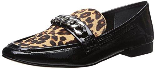 Dolce Vita Women's Cowan Loafer Flat,black/multi patent,8 Medium US