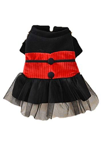 Timogee Hundemantel Kleiner Hund Kleidung Winter Hundepullover Modische Kleidung Soft Bequem Sweatshirt für Welpen Kleine und Mittlere Haustiere (XL, Rosso-B)