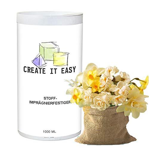 CREATE IT EASY NEU Stoff- Imprägnierfestiger, 1000 ml zum Aushärten von Stoffen