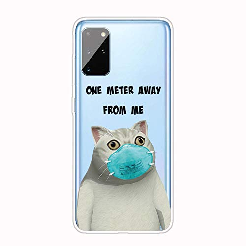 AChris Case Compatible with Samsung Galaxy S21 Plus Silicone TPU Crystal Protective Case with Cute Pattern Durable Anti-Drop Shockproof Bumper for Samsung Galaxy S21 Plus, Cute cat