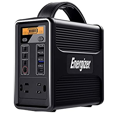 Energizer Portable Power Station, Solar Generators with PD 45W USB-C Fast Charging QC 3.0, 160Wh/50000mAh(110V/150W)Lithium Iron Phosphate Battery for Home Emergency, Outdoor Power Supply for Camping