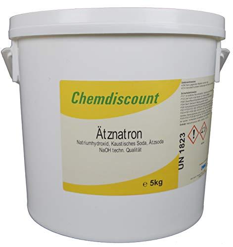 5kg Ätznatron (Ätzsoda NaOH Natriumhydroxid) Mikroperlen im Eimer, versandkostenfrei!