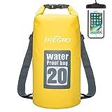IREGRO Borse Impermeabili 20L 500D Doppio Crossbody Dry Bag Zaino Impermeabile con Custodi...
