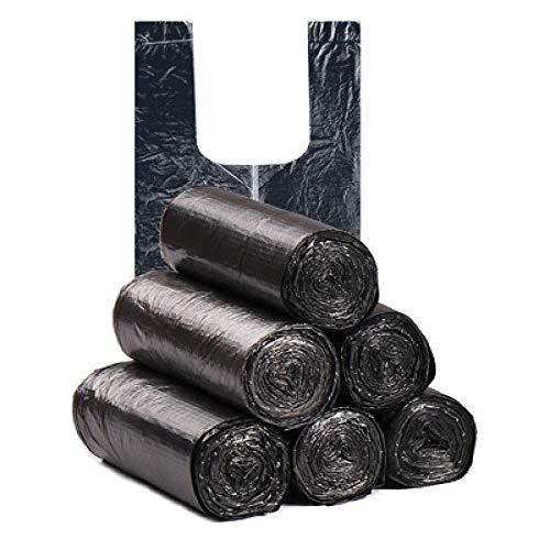 5 Rollen 10L Müll Mülltonne Liner Küche Toilette Abfall Müllsäcke Umweltfreundliche Weste Müllsäcke 100 Säcke Schwarz