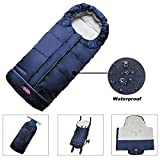 Waterproof Extendable Baby Bunting Bag Adaptable for Most Strollers Travel Gear Toddler Universal Stroller Footmuff 6-36Months Baby