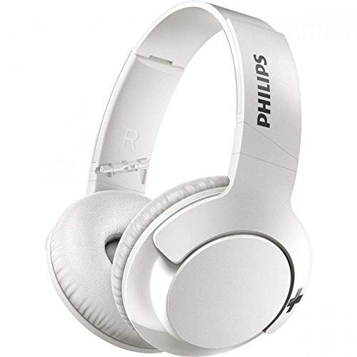 Philips BASS+ SHB3175 Wireless Headphones, up to 12 Hours of Playtime - Matte White