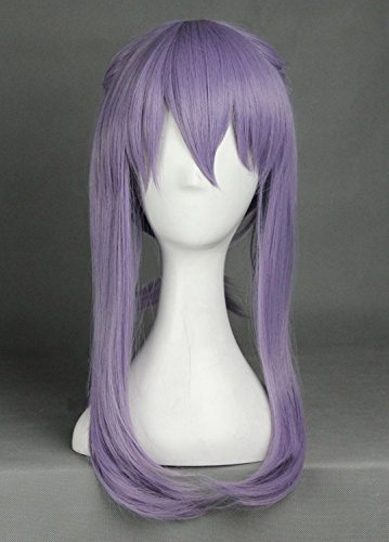 JapanAttitude Perruque Violette 40-55cm avec Nates Seraph of The End Cosplay Hiragi Shinoa