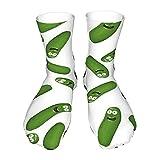 Socken für Erwachsene, Baumwolle, lange Strümpfe, schwarzer Absatz, dicke Socken, warme Socken, Unisex, 243 cm, Pickle Riiiick!