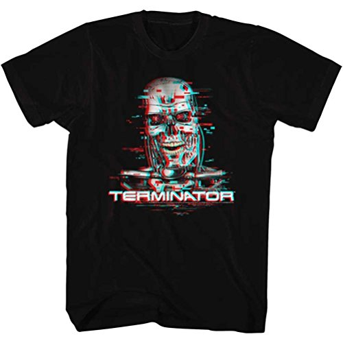 The Terminator Glitch Graphic T-shirt for Men, S to XXL