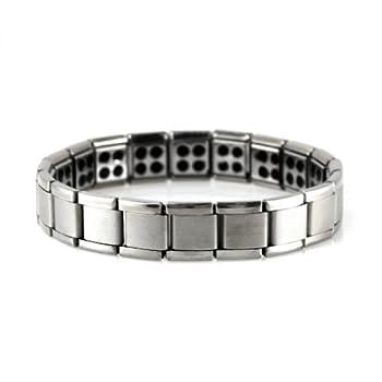 Power Ionics® Mens Titanium Power Nano Energy 80 Germanium Stones Bracelet Balance