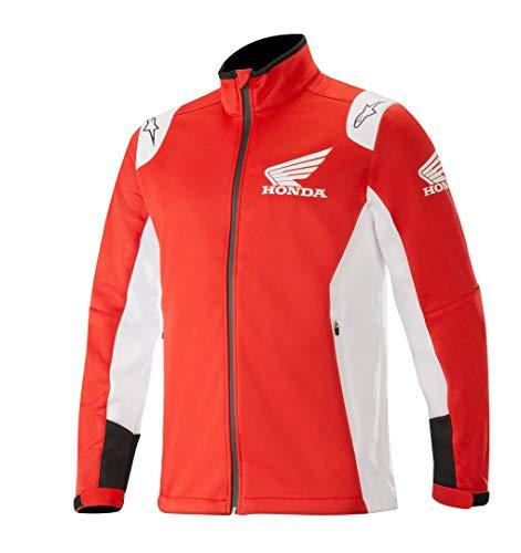 Alpinestars Honda Softshell - Chaqueta (talla L), color rojo y blanco