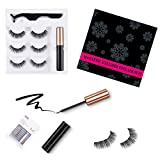 Magnetic Eyeliner and Magnetic Eyelash Kit - Magnetic Eyelashes with Eyeliner - Eyelashes With Natural Look - Comes with Applicator - no Glue Needed-Waterproof and Smudge Resistant(3 Pairs)