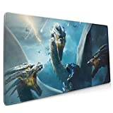 Textless Poster Godzilla Extended Gaming Mouse Mat, DIY Custom Professional Mouse Pad (35.5x15.8In),Desk Pad Keyboard Pad Mat, Water-Resistant, Non-Slip Base, for Work & Gaming, Office & Home