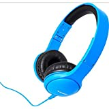 Zumreed ZHP-600 Color Rich Foldable Stereo Headphones with Built-In Mic, Blue