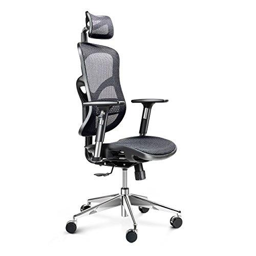 Diablo V-Basic Sedia da Ufficio ergonomica Sedia Comfort...