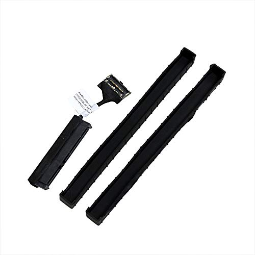 """GinTai 2.5"""" HDD SATA Cable + Rubber Rail Replacement for Dell XPS 15-9550 9560 M5510 M5520 Precision 5520 5510 XDYGX"""