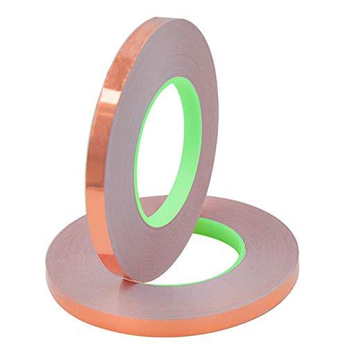 Senven Cinta Adhesiva primera calidad cobre - Conductor doble cara - (50m...