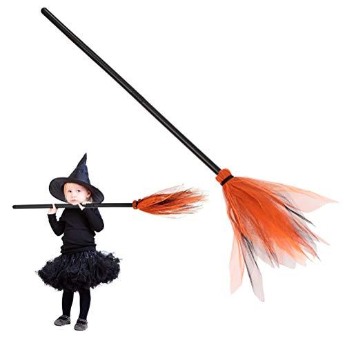 Escoba de Bruja de Halloween, Escoba de Bruja de Halloween Accesorios de Escoba de plástico para niños decoración de Fiesta de Escoba de Bruja para Fiesta de Disfraces decoración de Halloween