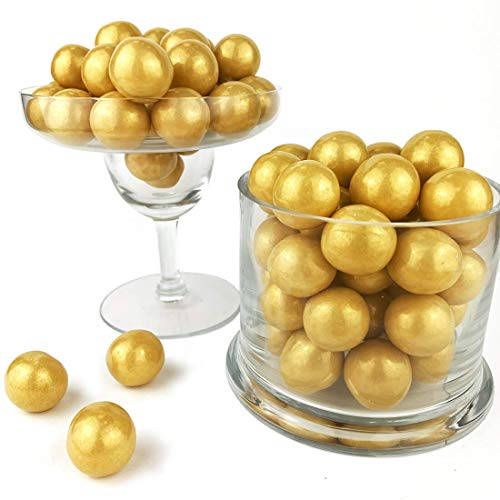 Color It Candy Shimmer Gold 1 inch Gumballs