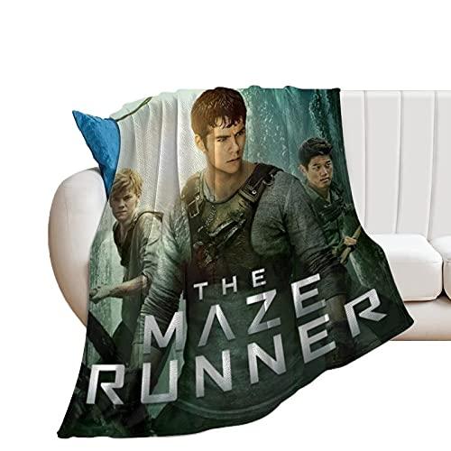 QHDS The Maze Runner - Coperta ultra morbida in micropile per casa, divano, letto, letto, divano, caldo, leggero, per tutte le stagioni, con stampa 3D, per bambini e adulti, 150 x 140 cm