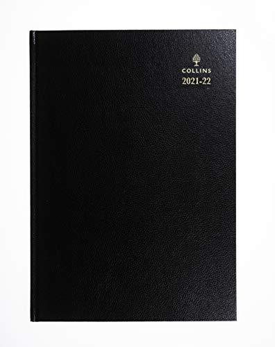 Collins - Agenda 2021/22, formato A4, con pagina giornaliera, colore: Nero