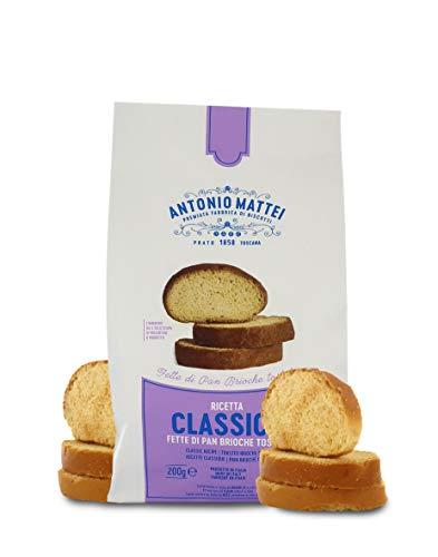 Antonio Mattei Premiata Fabbrica di Biscotti Rebanadas de Pan brioche Tostadas, Especial desayunos - Lote de 10 x 200gr