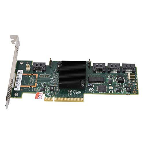 Bewinner 9212-4i Tarjeta de Matriz de 4 Puertos IR/IT de 4 Puertos para Windows 10/8/7, Tarjeta de Soporte de Disco Duro Pci-E x8 / x16 de 6 GB x 8 / x16, Que Incluye Sata y SAS - Plug and Play(IR)