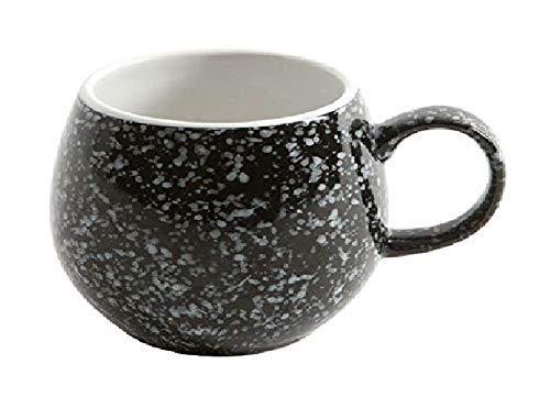 London Pottery Galet Mug moucheté Noir, Lot de 4