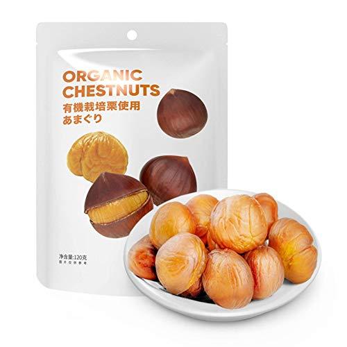 Sweet Chestnut Kernel 120g, Leisure Nut Snack Snack, Fresh Cooked Chestnut Kernel Dried Fruit (4 Bags)