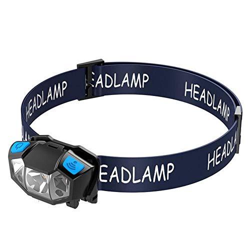 Lampe frontale USB rechargeable étanche Léger Mini Running Jogging Camping Vélo Mini Portable Rechargeable Construit dans la batterie Lampe frontale Camping en plein air Phare Pêche à la lumière rouge