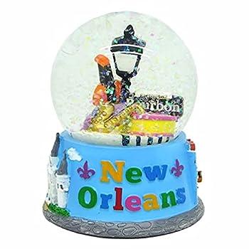 pcf Souvenirs New Orleans Louisiana Mardis Gras Snow Globe - 65mm