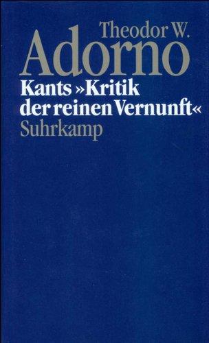 Nachgelassene Schriften. Abteilung IV: Vorlesungen: Band 4: Kants »Kritik der reinen Vernunft« (1959)