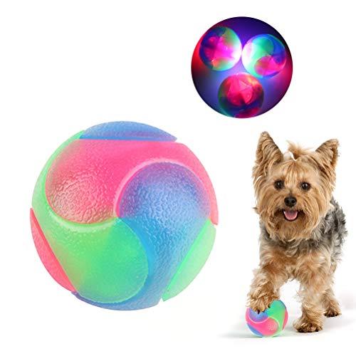 JOAN Ball für Hunde, Hunde Spielzeug Ball Silikon Leuchtendes Hundeball Leuchtball,Glühen in der Dunkelheit Hund Ball Zähne Reiniger Hund Training Kugel für Hunde Spielen