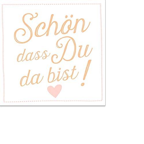 ARTEBENE Serviette Papierserviette Schön dass Du da bist Herzchen Herz Tissue   25 x 25 cm   20...