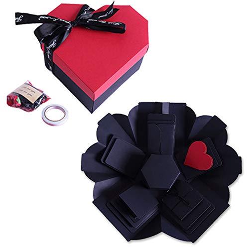 MAOYUTOU Überraschung Box, Explosion Box, Kreative Explosion Überraschung Box DIY Faltendes Fotoalbum Handgemachtes Scrapbook Geschenkbox für Weihnachten, Valentine, Jahrestag, Geburtstag, Hochzeit