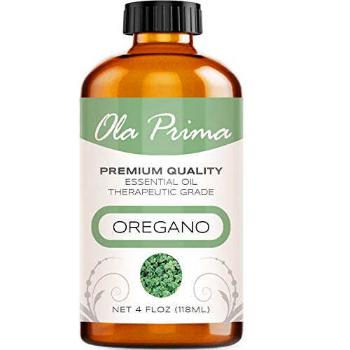 Ola Prima 4oz - Premium Quality Oregano Essential Oil (4 Ounce Bottle) Therapeutic Grade Oregano Oil
