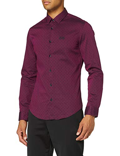 BOSS Herren Brod_S' Freizeithemd, Bright Pink, Medium
