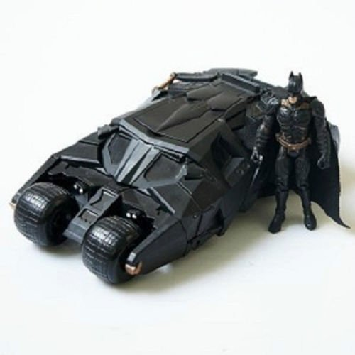 The Dark Knight Batman Batmobile Vaso Negro vehecle Toys de coche con figura
