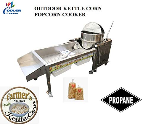 Great Deal! 80 Qt Outdoor Gourmet Kettle Corn Popcorn Popper Mobile Cart
