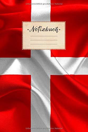 Notizbuch: Punktraster, 100 Seiten, DIN A5 Format, weißes Papier, glänzendes Softcover für hochwertiges Design   Notizheft - Tagebuch - Journal - ... Schweiz Fahne Länder Fliegen Urlaub Reise
